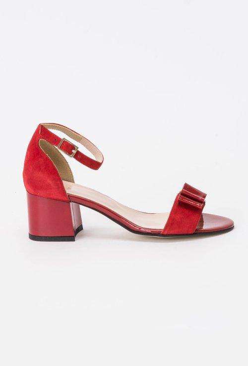 Sandale rosii din piele naturala Jude
