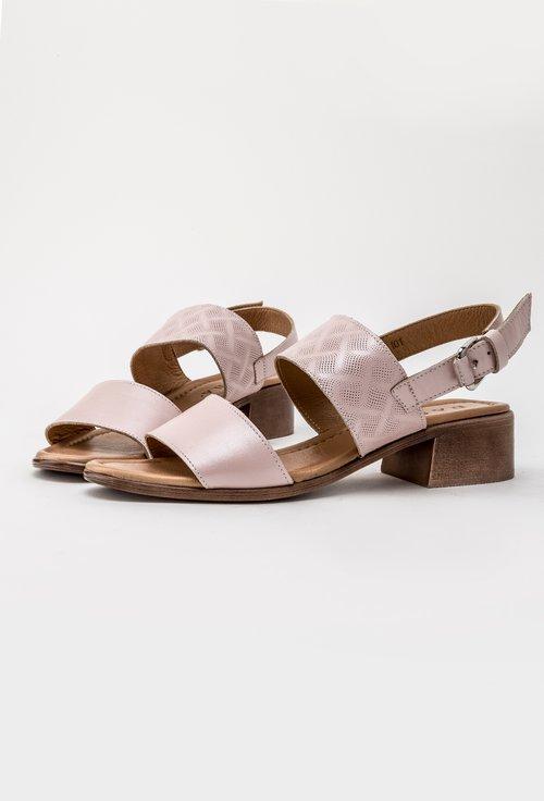 Sandale roz din piele naturala Dorothy