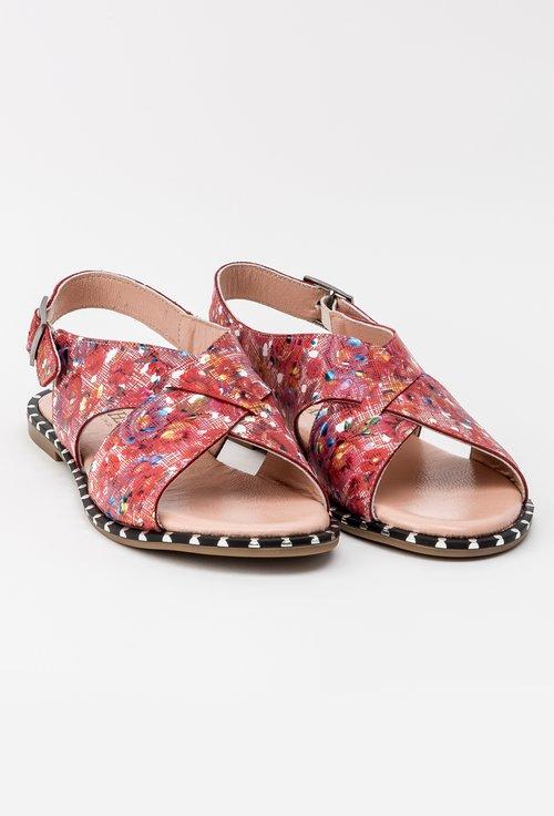 Sandale roz din piele naturala Yoyo