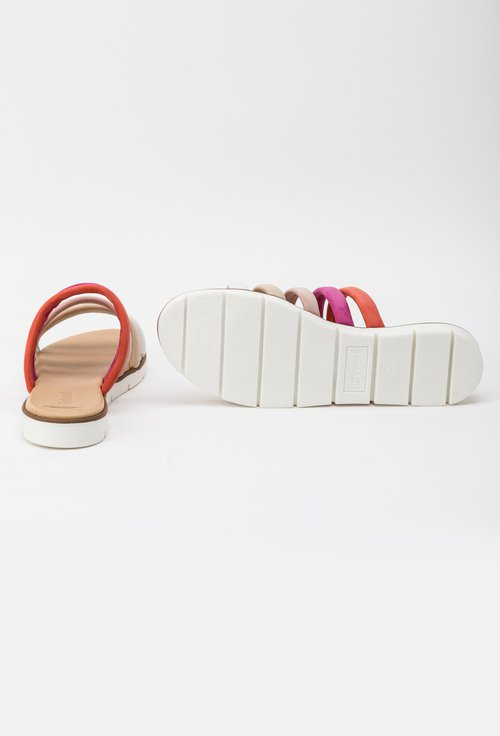 Sandale tip papuc Darkwood colorate din piele naturala intoarsa Insula