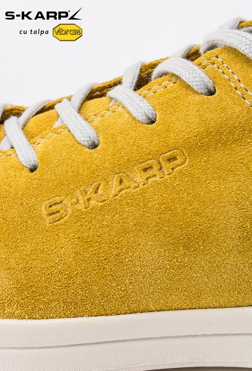 Sneakers S-Karp galbe din piele naturala Ruth
