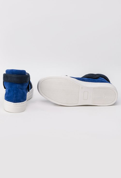Sneakers S-Karp indigo din piele naturala Arina