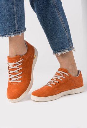 Sneakers S-Karp portocalii din piele naturala Ruth