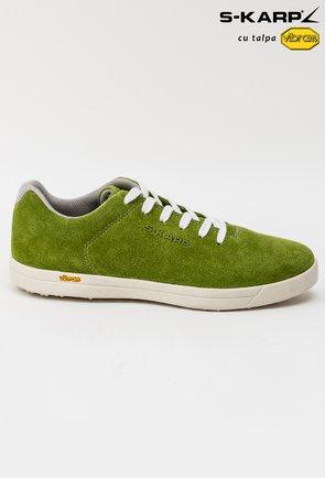 Sneakersi S-Karp verzi din piele naturala Ruth
