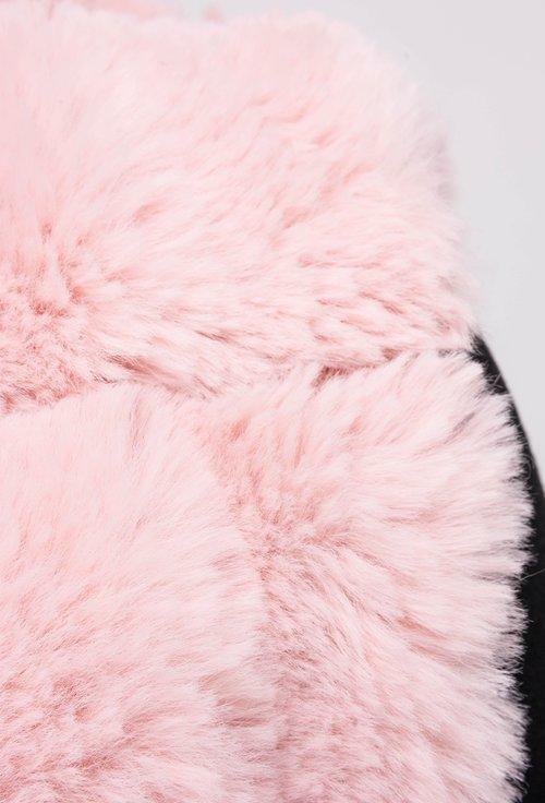 Vesta din blanita atificiala roz pal Evi