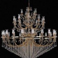 Candelabru Cristal Bussy Tila 0158-58-35F 35X40W E14