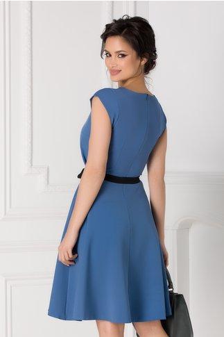 Rochie Isabel bleu cu cordon in talie