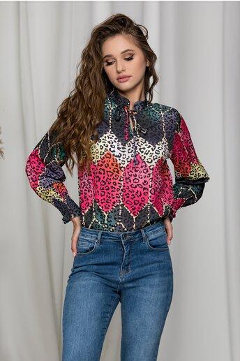 Bluza Alina colorata cu animal print