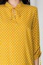 Bluza Alma galben mustar cu buline