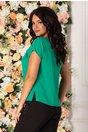Bluza Amedea verde cu pense pe fata