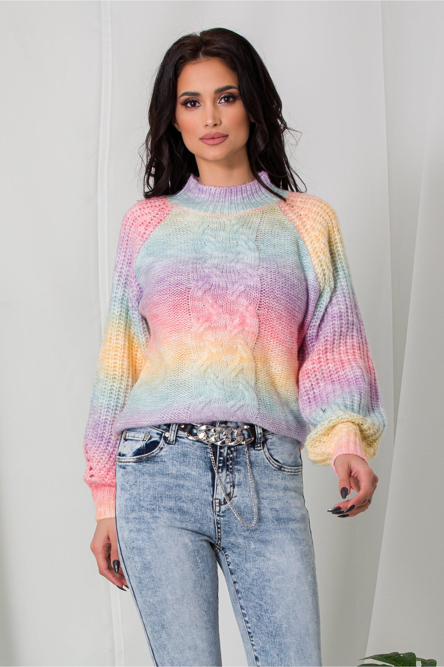 Bluza Amna tricotata multicolora