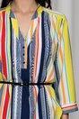 Bluza Aniela galbena cu dungi multicolore