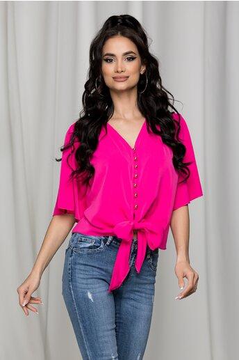 Bluza Ariana fucsia cu nasturi