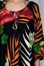 Bluza Arina neagra cu imprimeu exotic