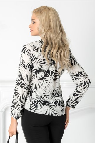 Bluza Aurora cu imprimeu exotic