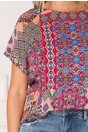Bluza Betina cu imprimeu divers multicolor