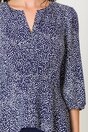 Bluza bleumarin cu picatele si fermoar la bust