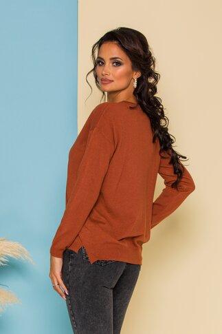 Bluza Celia maro din tricot fin