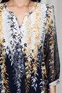 Bluza Daniela alba cu bleumarin si imprimeu floral