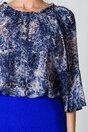 Bluza Dara albastra cu snake print
