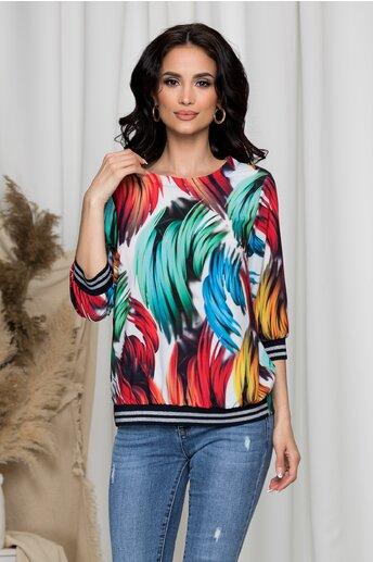 Bluza Dara cu imprimeuri colorate