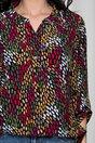 Bluza Diana bleumarin cu imprimeuri colorate