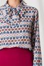 Bluza Dima albastra cu imprimeuri diverse