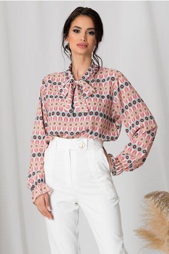 Bluza Dima roz cu imprimeuri diverse