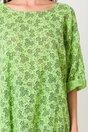 Bluza Dori verde cu floricele