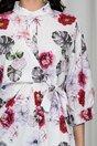 Bluza Eveline alba cu imprimeu floral