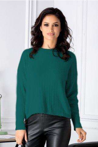 Bluza Gilly verde in croi lejer
