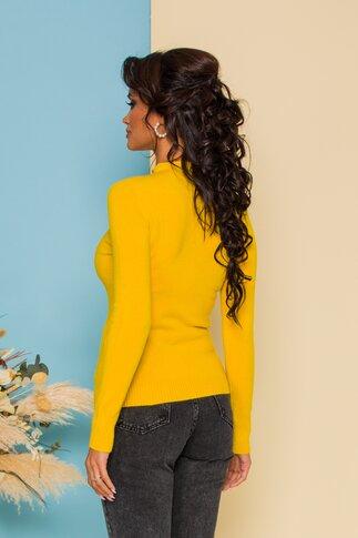 Bluza Ioana tricotata galbena