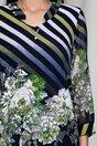 Bluza Kane bleumarin cu dungi si flori