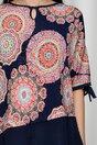 Bluza Kara bleumarin cu imprimeu mandala