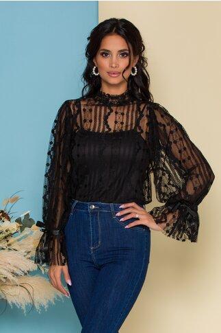 Bluza Katy neagra din dantela