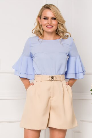Bluza LaDonna bleu cu decupaj pe spate