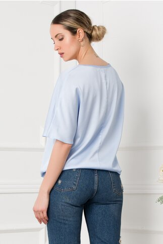 Bluza LaDonna bleu cu imprimeu fashion girl