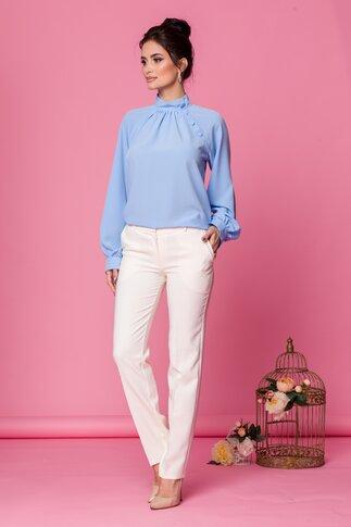 Bluza LaDonna bleu cu nasturi decorativi