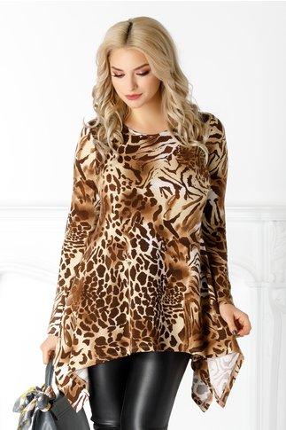 Bluza LaDonna cu animal print maro