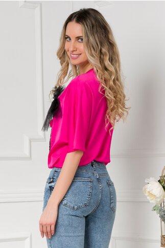 Bluza LaDonna fucsia cu paiete colorate