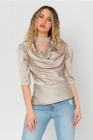 Bluza LaDonna gri cu guler lasat