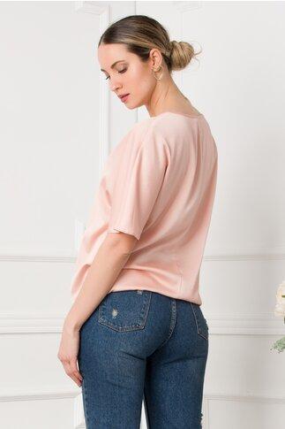 Bluza LaDonna roz cu imprimeu fashion girl