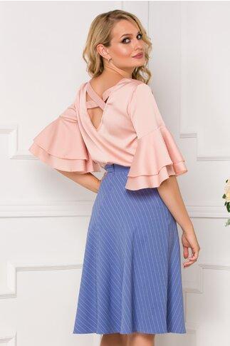 Bluza LaDonna roz somon cu decupaj pe spate