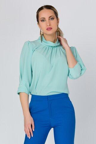 Bluza LaDonna verde pal cu perlute la guler