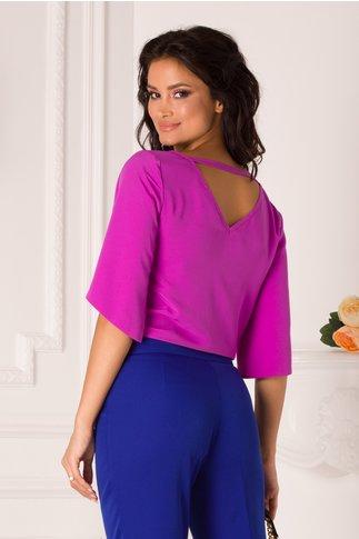 Bluza LaDonna violet cu maneci decupate