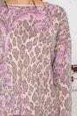 Bluza Lamer bej cu animal print si flori