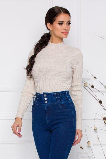Bluza Leona bej din tricot