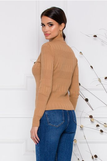 Bluza Leona maro din tricot