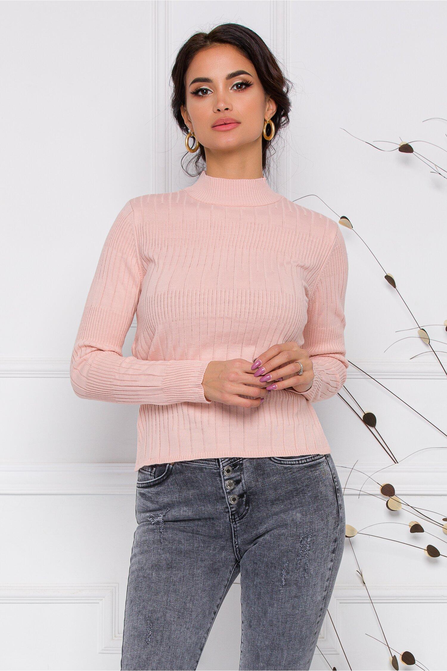 Bluza Leona roz pal din tricot