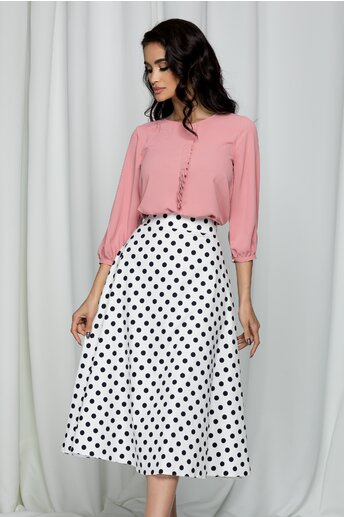 Bluza Leonard Collection roz din voal